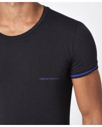 Emporio Armani - Black Ringer Short Sleeve T-shirt for Men - Lyst