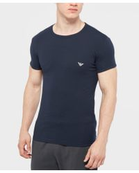 Emporio Armani | Blue Back Eagle Short Sleeve T-shirt for Men | Lyst