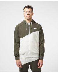 Nike Multicolor Swoosh Fleece Full Zip Hoodie for men
