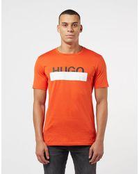HUGO Orange Dolive Short Sleeve T-shirt for men