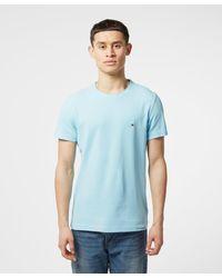 Tommy Hilfiger Blue Flex Pique Short Sleeve T-shirt for men