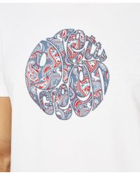 Pretty Green   Multicolor Camley Paisley Logo T-shirt for Men   Lyst