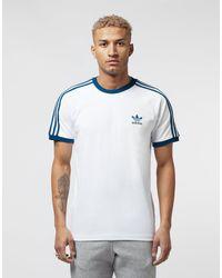 Adidas Originals White California 3-stripes T-shirt for men
