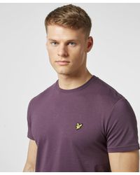 Lyle & Scott Purple Basic Crew Short Sleeve T-shirt for men