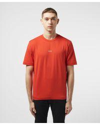 BOSS by Hugo Boss Red Tchup Centre Logo Short Sleeve T-shirt for men