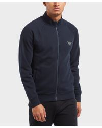 Emporio Armani - Blue Icon Full Zip Track Top for Men - Lyst