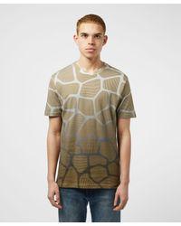 BOSS by Hugo Boss Brown Giraffe Animal Print Short Sleeve T-shirt for men