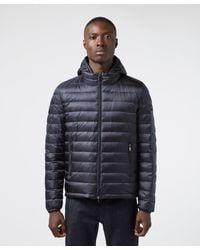 Paul & Shark Blue Winter Baffle Jacket for men