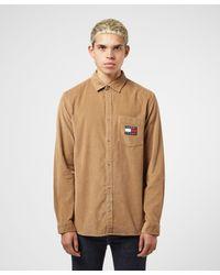 Tommy Hilfiger Brown Corduroy Long Sleeve Shirt for men