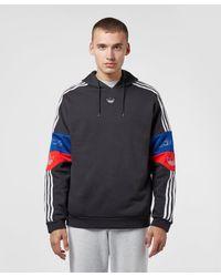 Adidas Originals Black Team Signature Trefoil Hoodie for men
