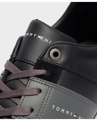 Tommy Hilfiger Black Corporate Low Cupsole for men