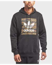 Adidas Originals Gray Tiger Camo Overhead Hoodie for men