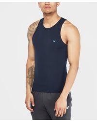Emporio Armani - Blue Back Eagle Vest for Men - Lyst