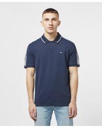 b97ac76c1 Michael Kors Tape Shoulder Short Sleeve Polo Shirt in Blue for Men ...