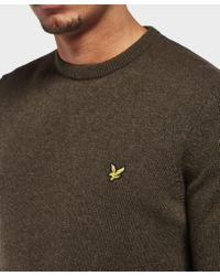 Lyle & Scott - Multicolor Lambswool Crew Neck Knit for Men - Lyst