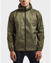 Lyle & Scott Green Hooded Lightweight Jacket for men