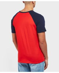 Penfield Red Raglan Short Sleeve T-shirt - Online Exclusive for men