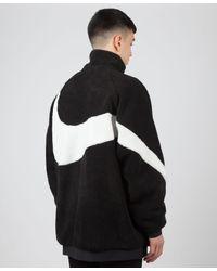 nike fleece jacket swoosh