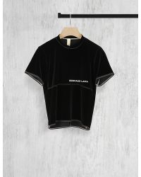 Eckhaus Latta | Black Lapped Velvet T-shirt | Lyst