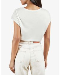 Ted Baker White Lylie Floral-print Woven T-shirt