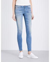 DIESEL Blue Plus Size Skinzee Skinny Mid-rise Jeans