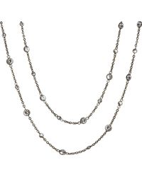 Annoushka | Metallic Nectar Night Jasmine Rhodium-plated 18ct White-gold And Sapphire Necklace | Lyst