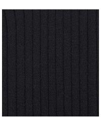 Falke Black Bristol Ribbed Wool Socks for men