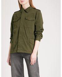Zadig & Voltaire - Green Kayak Embroidered Cotton-twill Field Jacket - Lyst