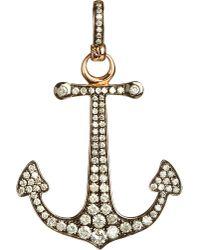 Annoushka | Metallic Mythology 18ct Rose Gold And Diamond Anchor Hope Charm | Lyst