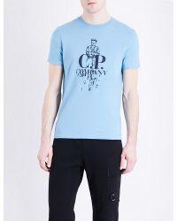 C P Company Blue Sailor-graphic Cotton-jersey T-shirt for men