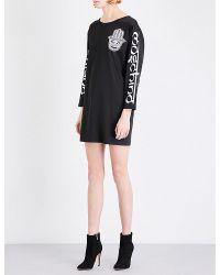 Moschino | Black Hamsa-print Satin Dress | Lyst