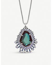 Kendra Scott Metallic Daenerys Silver-tone And Dichroic Glass Pendant Necklace