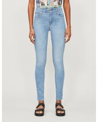 Levi's Blue 721 Faded Skinny High-rise Jeans