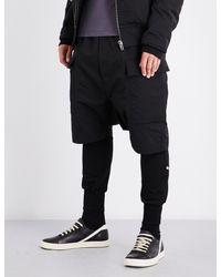 Rick Owens - Black Cargo Cotton-blend Shorts for Men - Lyst