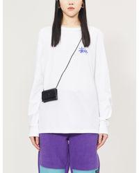 Stussy White Logo-print Cotton-jersey T-shirt