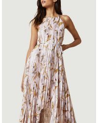 Ted Baker Pink Dixxie Cabana Floral-print Pleated Woven Maxi Dress