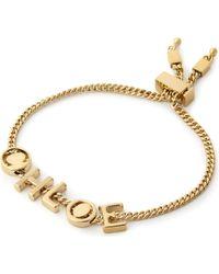 Chloé - Metallic Letter Charm Bracelet - Lyst