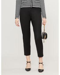 Claudie Pierlot Black Pascal Cropped Twill Trousers