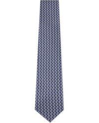 Ferragamo Blue Tennis Silk Tie for men