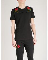 Criminal Damage Black Thorn Cotton-jersey T-shirt for men