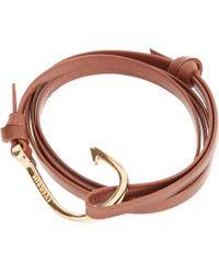 Miansai - Brown Hook Bracelet - Lyst
