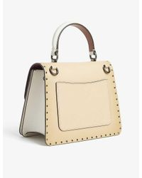 COACH Natural Parker Leather And Coated Canvas Shoulder Bag