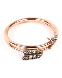 Annina Vogel | Metallic 9 Carat Rose Gold And Diamond Arrow Ring | Lyst