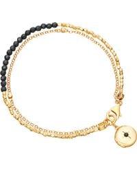 Astley Clarke - Metallic Biography 18ct Gold-plated Black Spinel Bracelet - Lyst