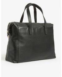 Knomo Black Audley Leather Laptop Handbag for men