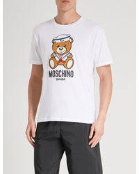 Moschino White Sailor Bear Cotton-jersey T-shirt for men