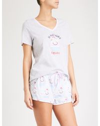 PETER ALEXANDER - White Cupcake Cotton Pyjama Set - Lyst