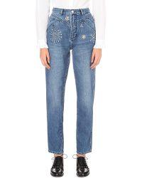 Claudie Pierlot - Blue Patsy Regular-fit High-rise Jeans - Lyst