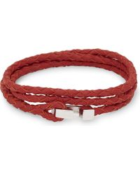 Miansai | Red Ipsum Sterling Silver Leather Wrap Bracelet | Lyst