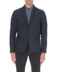 Corneliani - Blue Padded Shell Blazer for Men - Lyst
